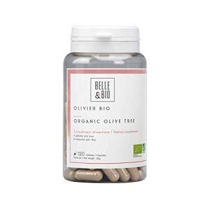 Belle&Bio – Olivier Bio – 120 gélules – 700 mg – Antioxydant – Certifié Bio par Ecocert – Fabriqué en France