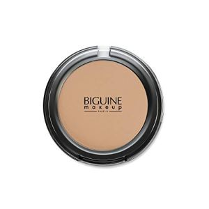 BIGUINE MAKEUP PARIS – Poudre Compacte Soie – Compact Powder – Teint Uniforme – Matifiante – Origine Minérale – Ambre – 11 g
