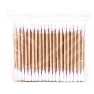 caolator.multifonctionnel hisopos de Coton de Bambou blaireau de Coton du solvant d'maquillage Pique Double du maquillage de la tête