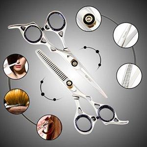 Generic. Mince de sécateurs Lot C Coque Ning Hair Cut Ciseaux à effiler R Hairdressin Professional Barber ER de Coiffure Cheveux Coupe de Cheveux Essional