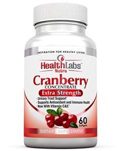 Health Labs Nutra 50:1 Triple résistance Canneberge Concentré avec Vitamines C et E – des voies Urinaires et Soutien Immunitaire (60 gélules d'action rapide)