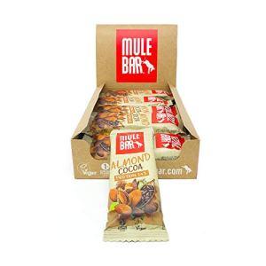 Mulebar – Barres Protéinées Vegan | 100% Naturelles | 24% de Protéines | Goût Amande Chocolat | Pour une Meilleure Récupération Après l'Effort