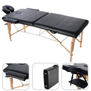 Todeco – Table de Massage Pliante, Table Professionnelle pour Thérapie – Dimensions: 186 x 71 x 62 cm