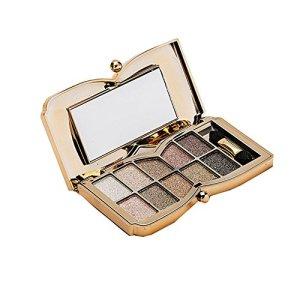 99L'amour Ombre à paupières française,Maquillage cosmétique Shimmer Mat Nu 10 Couleurs Fard à paupières Palette (A)