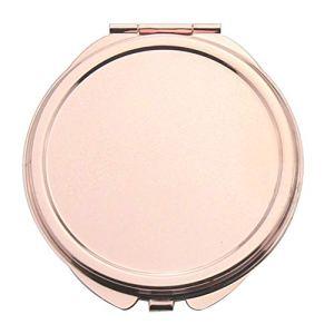 Darweirlued Portable Tête de chat cœur rond carrée pliante Miroir extérieur Voyage Maquillage Outil