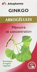 Arkopharma Phytothérapie Standard Arkogélules Ginkgo Feuille Flacon de 45 Gélules