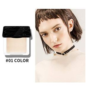 Poudre libre transparente maquillage Tricolor Powder Face Powder Panel Contour Color Cosmetics base imperméable d'huile de base et de matte Réparation de poudre haute brillance (A)