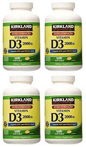 Kirkland Signature Ncvbhdgh Une résistance maximale Vitamine D32000I.u. 600Capsules Molles, Bouteille personnelle Healthcare/Health Care Lot de 4