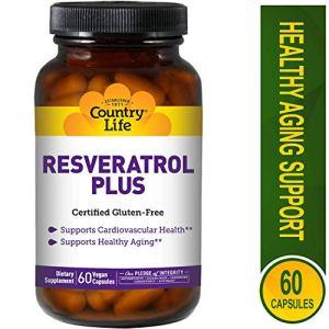 Country Life – Resveratrol Plus 60 Capsules Végétales