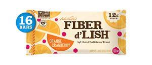 GNU Foods, Ensemble de barres de canneberge à l'orange, savoureux avec des fibres, 16 Barres, 1,6 oz (45 g) de chaque