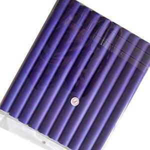 MachinYesell Diy Bigoudis Pour Cheveux Doux Rouleaux De Cheveux Curler Perle Coton Rouleau De Cheveux Curls Bagels Bendy Flexi Rods Spirale Magique Curl Perms violet