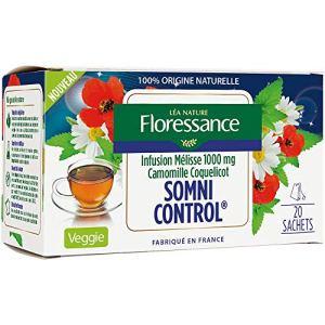 Floressance Infusion Somni-Control Mélisse 1000 mg Camomille Coquelicot