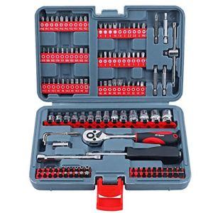 JIAX D'outils à Main Set 67Pc métrique Voiture Réparation Automobile Mécanique Automobile Outil Kit Accueil Garage Socket Outils Clé avec l'outil Case
