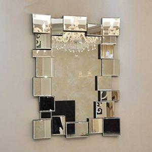JKAD Miroir de beauté fixé au mur grand miroir décoratif stéréoscopique de mode de style européen (Size : 80 * 110cm)