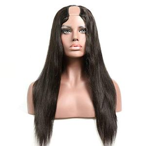 LDDLH Partie Perruques Brésiliens Soyeux Droite Naturel Hairline Pré Plumée Noeuds Blanchis 150% Densité Vierge Perruques de Cheveux Humains-26inches