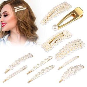Épingles à Cheveux Perle, 10 Pièces PAMIYO Artificielle Pince à Cheveux Accessoires pour Filles Femmes, Anniversaire Cadeaux Saint Valentin Épingles à cheveux Élégantes pinces à cheveux
