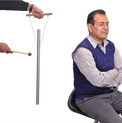 Tuyau accordé de guérison à 432 Hz plus fort que le diapason avec maillet, socle à main