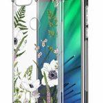 Suhctup Coque Comaptible avec Xiaomi Redmi GO Étui Houssee,Transparent Motif Fleur [Antichoc Protection des Coins] Crystal Souple Silicone TPU Bumper Case Cover pour Redmi GO,A14