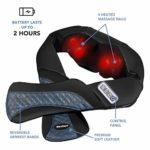MaxKare Appareil de Massage sans Fil Shiatsu Masseur Portable pour Dos, Cou, Nuque et Épaules 3D Rotation Bidirectionnelle avec Fonction de Chauffage Rechargeable Utilisation sans Mise