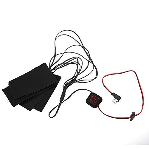 KUIDAMOS Coussin Chauffant Pliable vêtements Chauffants chauffés Chaud sans Charge Coussin Chauffant USB Doux électrique pour l'hiver Froid