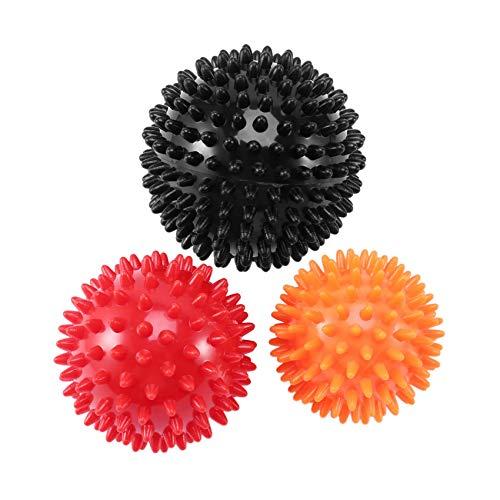 Andylies Ensemble de Balles de Massage HéRisséEs Boules D'Exercice Convient pour Massage des Tissus Profonds PhysiothéRapie LibéRation Myofasciale et Relaxation des Muscles