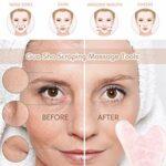 Outil de Massage Gua Sha Jade Gua Sha Board pierre naturelle Gua Sha conseil traitement des points de déclenchement de thérapie d'acupuncture sur le visage, le bras, le pied (Rose)