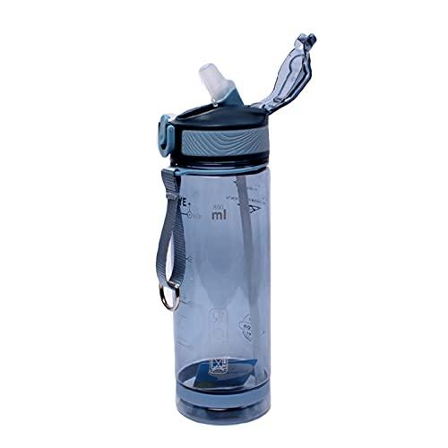 FPEH Bouteille de Sport Grande capacité Paille Duckbill Coupe Adulte Bouteille d'eau de Remise en Forme d'eau sans bPA sans BPA Blue