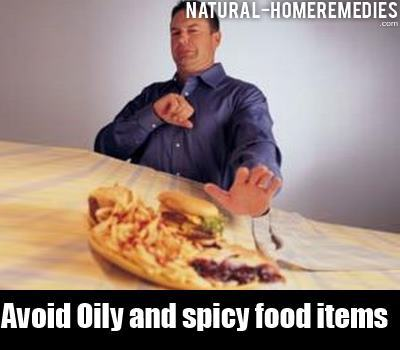 avoid oily food