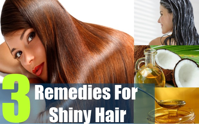 3 Remedies For Shiny Hair