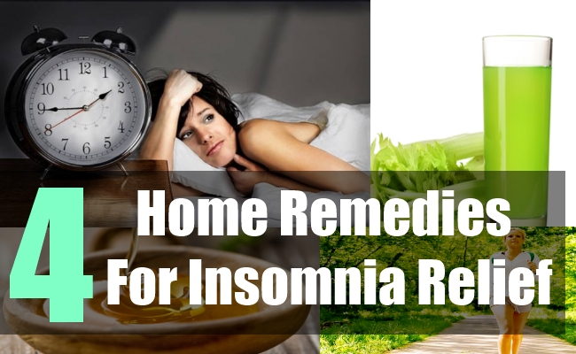 4 Home Remedies For Insomnia Relief