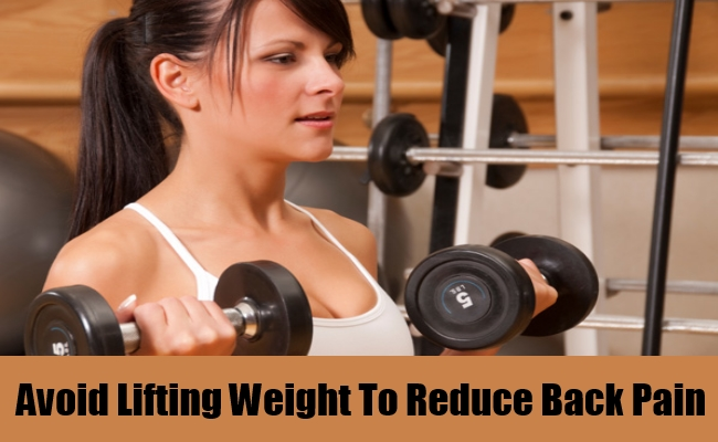 Avoid Lifting Weight To Reduce Back Pain