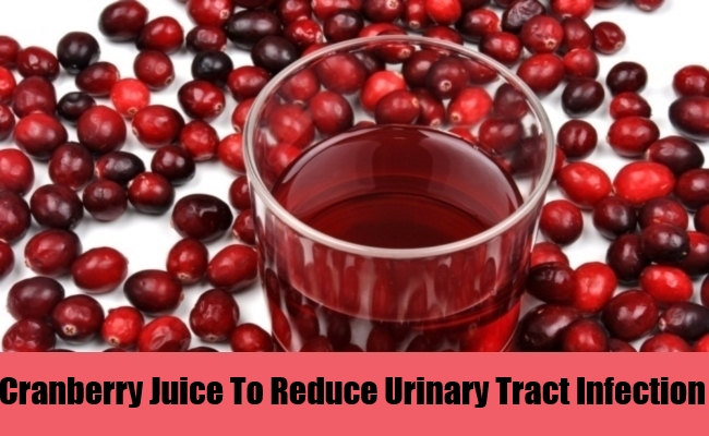 Cranberry Juice To Reduce Urinary Tract Infection