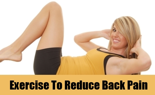 Exercise To Reduce Back Pain