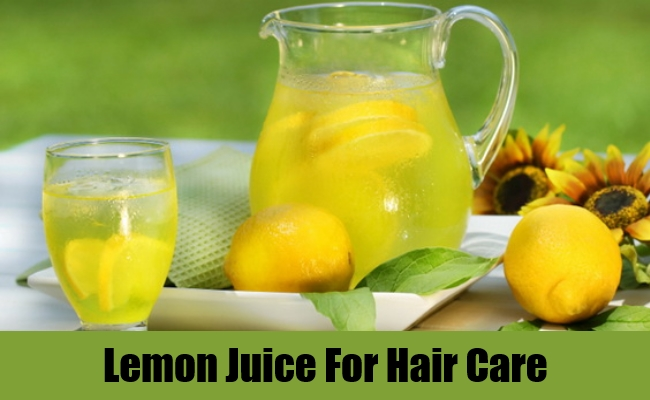 Lemon Juice For Hair Care