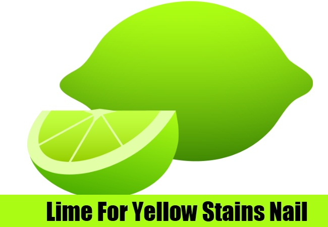 Lime For Yellow Stains Nail