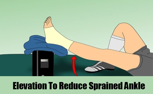 Elevation To Reduce Sprained Ankle