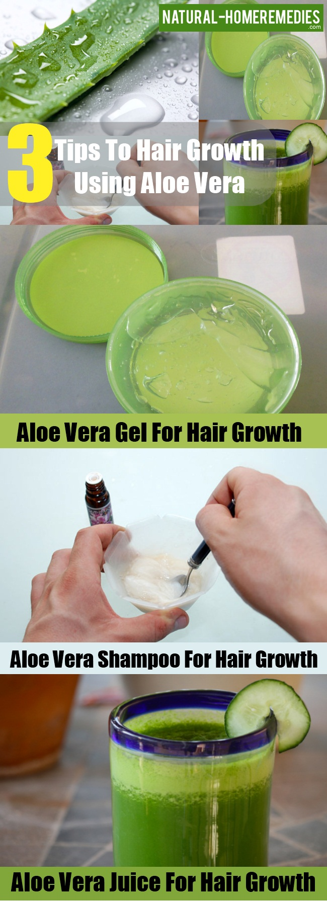 Hair Growth Using Aloe Vera