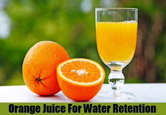 Orange Juice For Water Retention