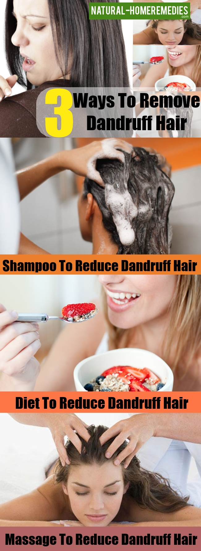 Ways To Remove Dandruff From Your Hair