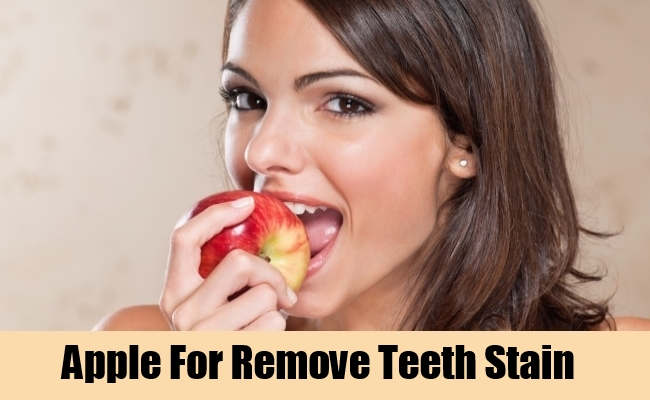 Apple For Remove Teeth Stain