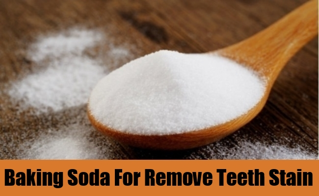 Baking Soda For Remove Teeth Stain