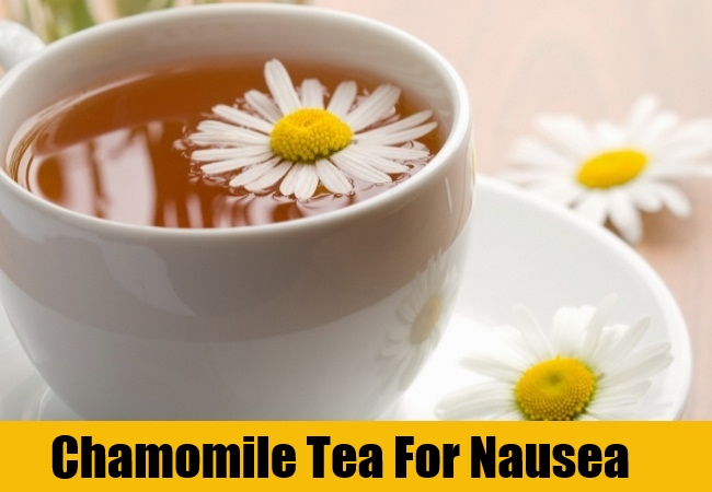 Chamomile Tea For Nausea