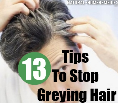 How To Stop Gray Hair - Natural Home Remedies To Prevent Grey Hair
