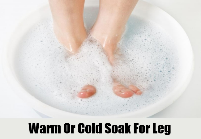 Warm Or Cold Soak For Leg