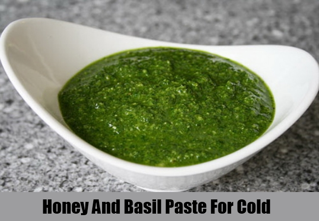 Honey And Basil Paste For Cold