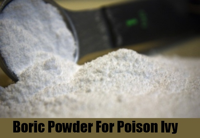 Boric Powder For Poison Ivy