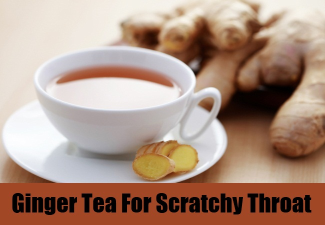 Ginger Tea For Scratchy Throat