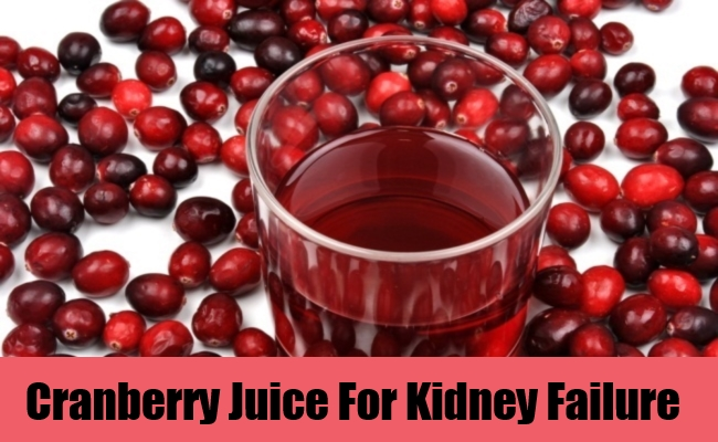 Cranberry Juice For Kidney Failure