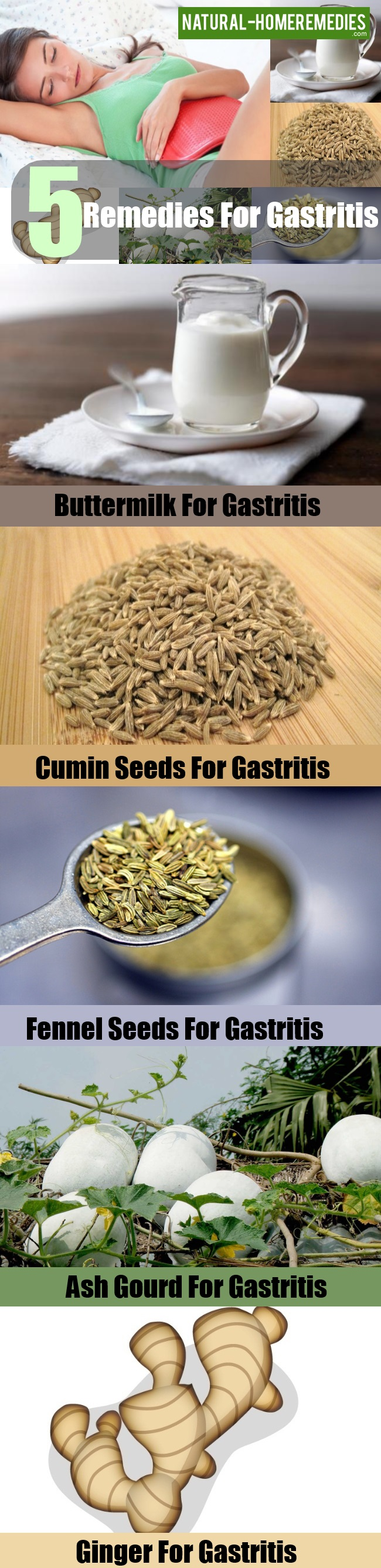 5 Home Remedies For Gastritis - Natural Treatments & Cure For