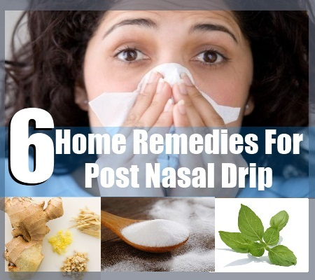 remedies for post nasal drip